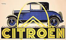 Original 1930s Citroen Automobile Poster VALERIO Art