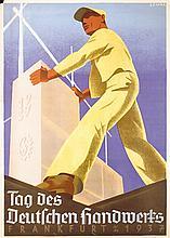 Original 1930s German Handwerk Poster SEMAR Art