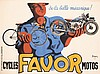 Old Original 1930s Favor Bicycles Motorcycles Poster, Pierre Bellenger, Click for value