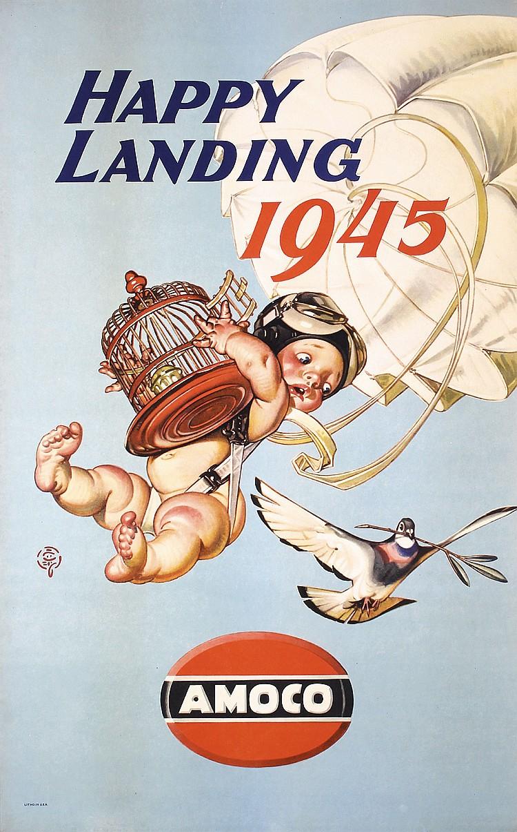 Original LEYENDECKER Amoco World War II Poster Baby