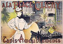 Original 1890s/1900s Place Clichy French Advert Poster