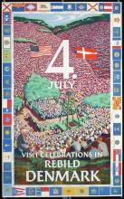 Original Vintage 1950s Independence Day Travel Poster