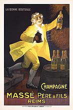 Original 1920s French Champagne Poster AUZOLLE Art