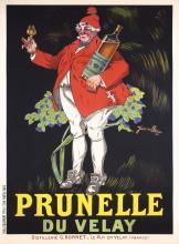 Original Vintage1920s French Wine Poster Prunelle Velay