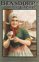 Original Vintage 1900s Dutch Bensdorp Cacao Poster