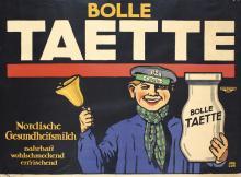Original Vintage 1900s/10s MILK Advertising Poster JOE LOE
