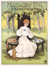 Rare ORIGINAL 1920s British Mazawattee Tea Poster