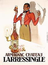 Original French 1930s Liquor Armagnac Poster MONNIER