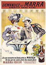 Rare Original Vintage 1900s MARRA Liquor Poster