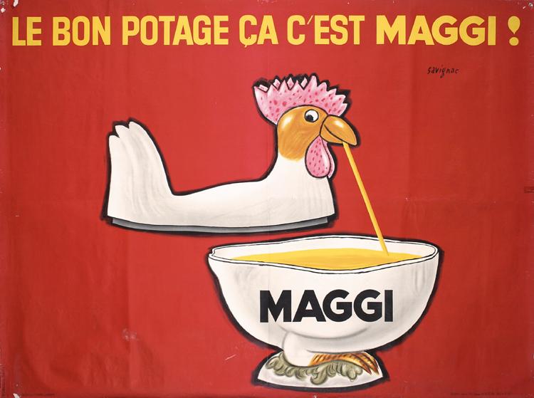 Raymond Savignac, Le Bon Potage Ca C´est Maggi, 1962