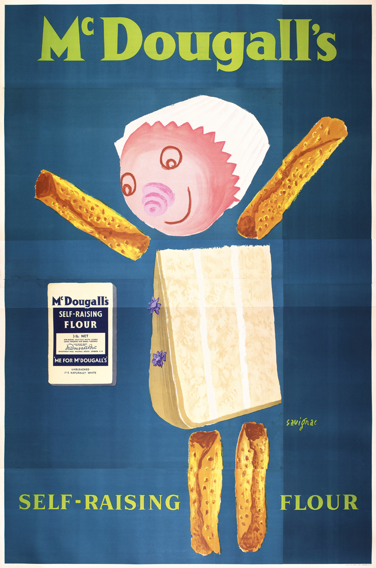 Raymond Savignac, McDougall´s self-raising flour, 1955, this poster has never been exhibited or offered at auction