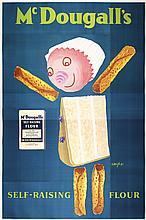 RARE ORIGINAL 1950s Savignac Poster MCDOUGALL´S !!! UNKNOWN !!!