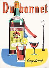 Original Vintage 1960 Swiss Design DUBONNET Poster