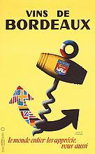 Original 1950s/60s French Radio TV Poster HERVE MORVAN