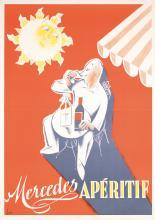 Original 1930s Aperitif Mercedes Liquor Poster + Coffee