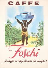 Original Vintage 1960 Italian Coffee Poster FOSCHI