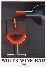 Stunning Original Willi´s Wine Bar CASSANDRE Poster