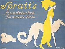 RARE Original 1910s German Dog Biscuits Poster ELEGANT