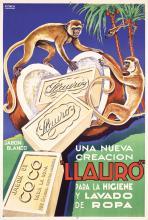 Funny Original Vintage 1950s Italian Soap Poster MONKEY