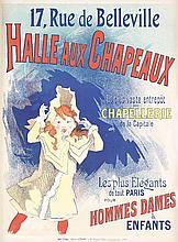 Original 1890s Jules Cheret Hat Poster Affiche
