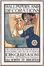 Original 1910s British Art Deco Poster
