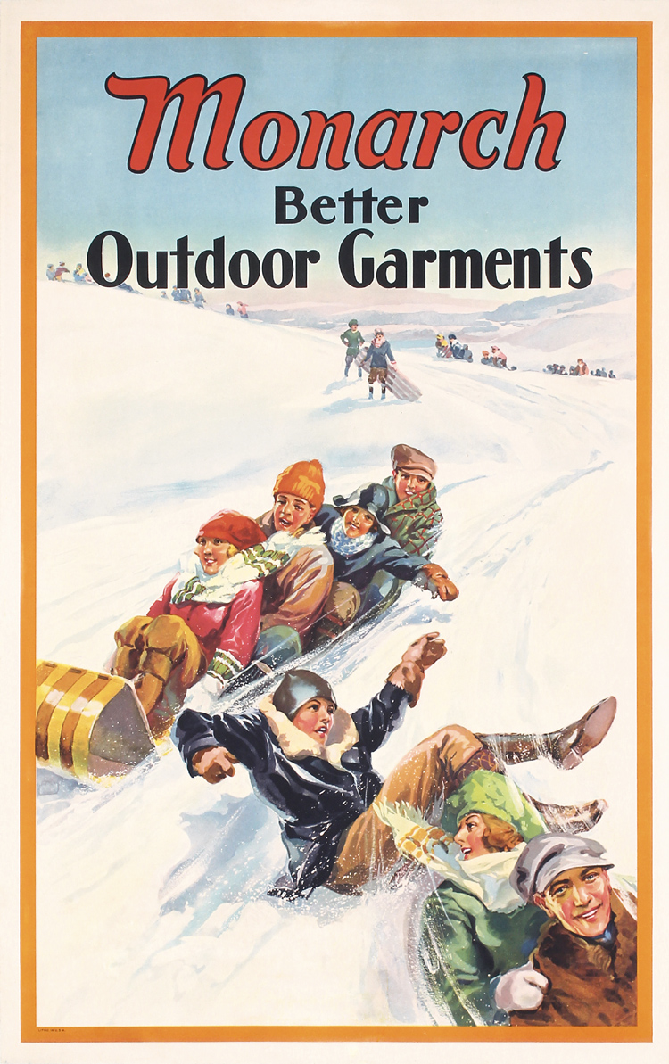 original 1920s american clothing poster winter sports