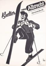 Original Vintage 1930s German Ski Advertising Poster