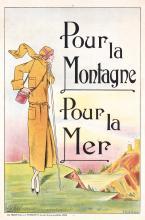 Original Vintage 1920s Art Deco Fashion Poster