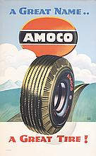 Original 1940s LUCIAN BERNHARD Amoco Tire Poster