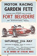 Original 1960s British Automobile Racing Poster