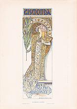 Original 1896 MUCHA Affiches Illustrees Poster GISMONDA