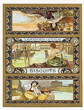 RARE 1890s/1900s MUCHA Lefevre-Utile Biscuit Print