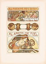 Original 1900s Alphonse Mucha Documents Decoratifs BEBES
