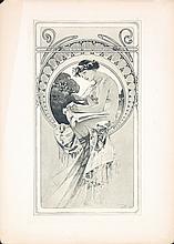 Original 1902 Alphonse Mucha Documents Decoratifs Plate