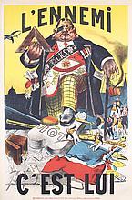 Original 1900s Anti-Masonic French Propaganda Poster