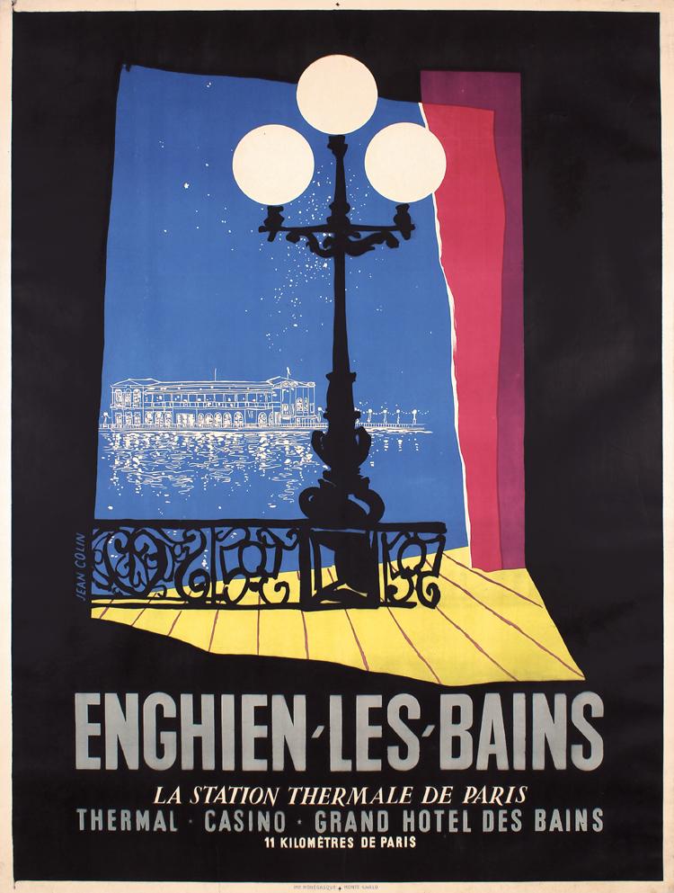 Original 1950s french travel poster enghien les bains for Enghien les bains