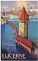 Original 1930s Swiss Travel Poster Lucerne OTTO LANDOLT, Otto Landolt, Click for value