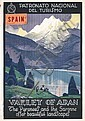 Original 1920s Spanish Travel Poster Plakat ARAN VALLEY, Rafael