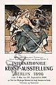 RARE Old Original 1890s German Art Poster Plakat Berlin