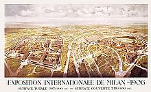 RARE Original 1906 Italian Milan World´s Fair Poster