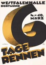 Original 1930 Bicycle Race Poster 6 Tage Rennen Germany
