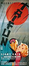 Stunning Vintage 1930s Austrian Film Poster Taifun