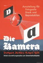 RARE Original 1930s German Photography Camera Poster