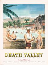 Original 1950/60s California Travel Poster DEATH VALLEY