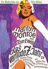 Original Seven Year Itch Poster R1960s German Monroe