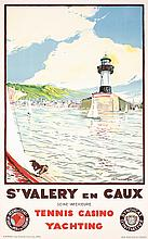 GREAT Original 1930s French Travel Poster St. Valery