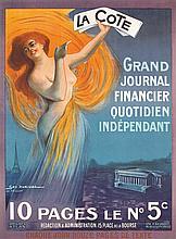 RARE Original 1910 French Newspaper Poster GEO DORIVAL
