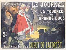 RARE Original 1890s French Newspaper Poster BALLURIAU