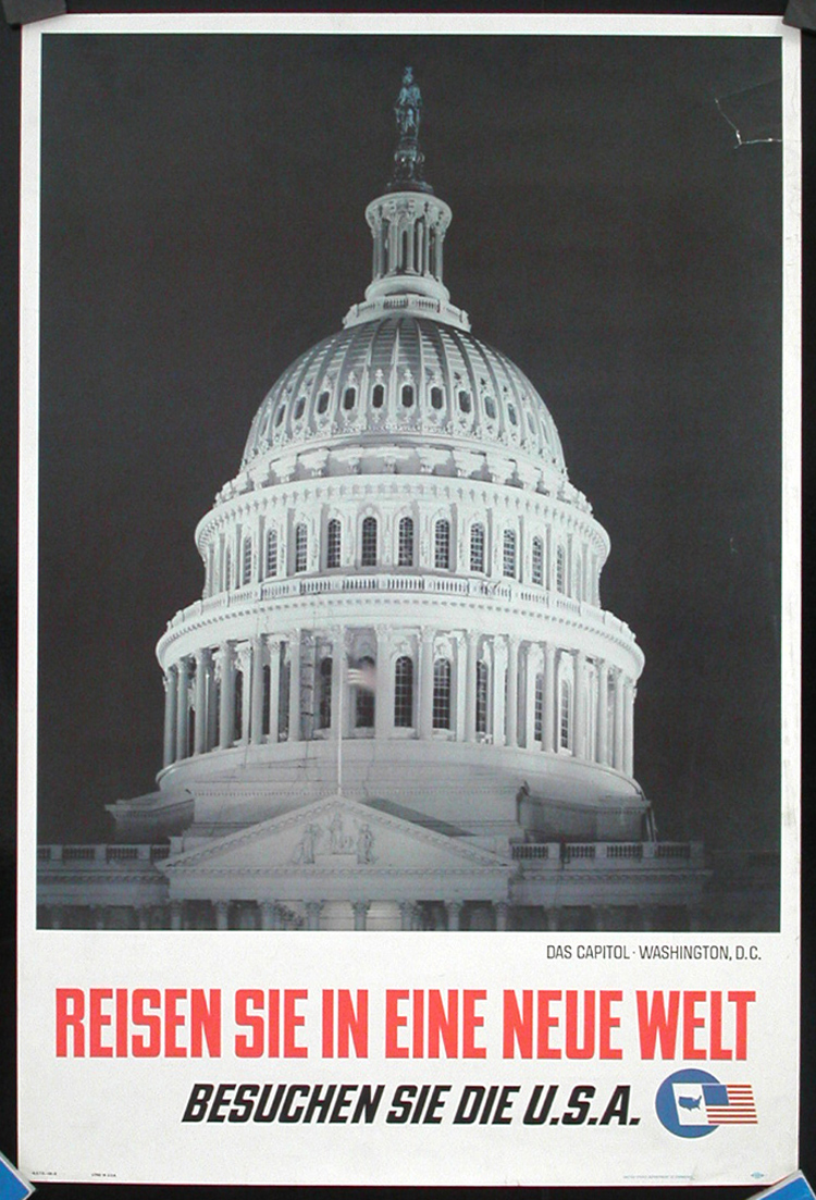 Original 1962 washington dc travel poster capitol for Buying a home in washington dc
