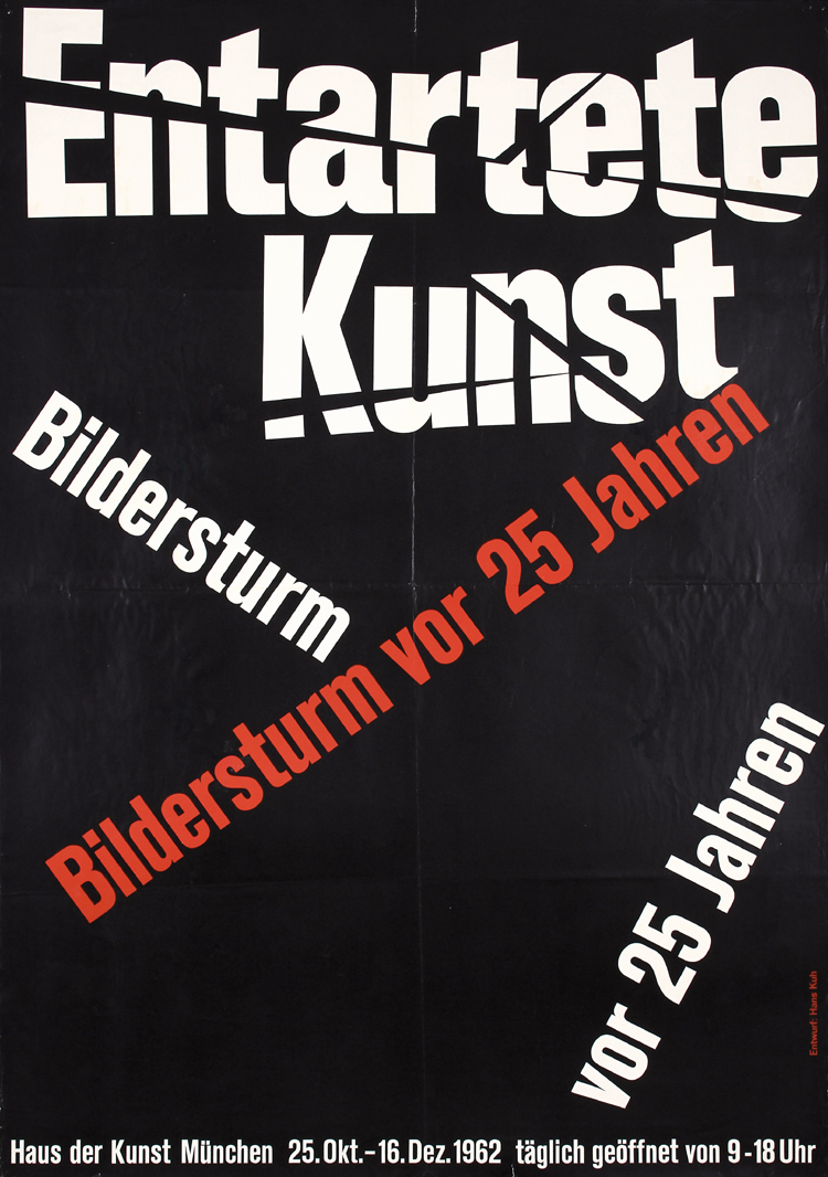 original 1962s entartete kunst exhibition poster. Black Bedroom Furniture Sets. Home Design Ideas